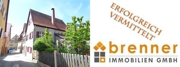 Erfolgreich vermittelt: Historisches Altstadthaus mit kleinem Garten in 91550 Dinkelsbühl / Mittelfranken
