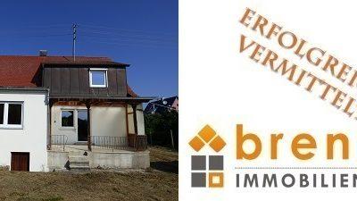 Erfolgreich vermittelt: Kleines, renovierungsbedürftiges Einfamilienhaus in Oettingen i.Bay.