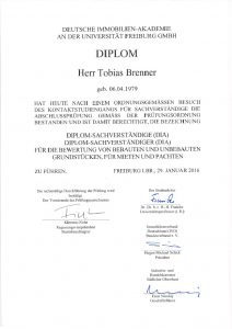 Diplom Sachverständiger ( DIA )