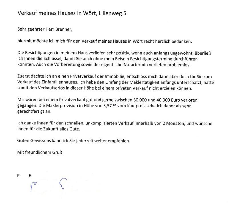 brenner IMMOBILIEN GmbH | Kundenstimmen - Referenzen - Verkäufer ...