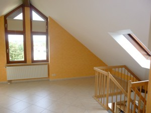 Studio Ansicht mit Treppenaufgang