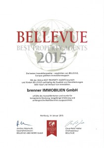Urkunde Bellevue 2015