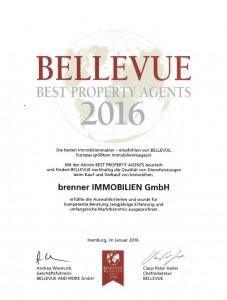 Urkunde Bellevue 2016