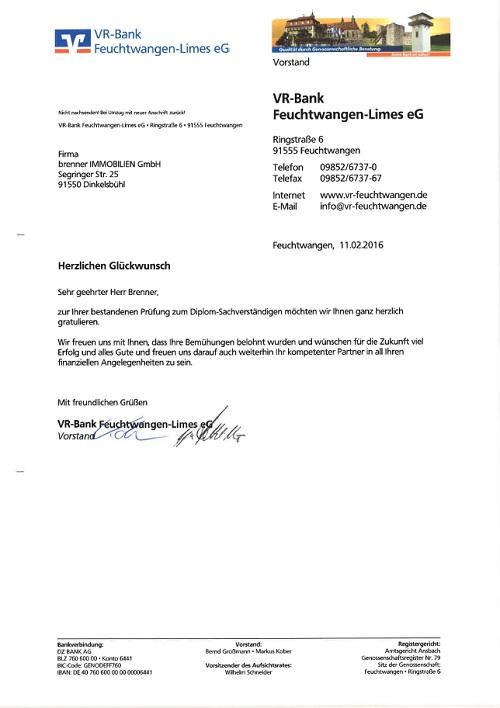 Reaktion Diplom Vr Bank Feuchtwangen Brenner Immobilien Gmbh