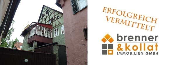 Erfolgreich vermittelt: Altstadthaus in Dinkelsbühl