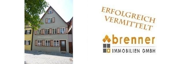 Erfolgreich verkauft: Altstadthaus mit 3 Wohneinheiten in Dinkelsbühl