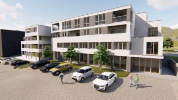Neubau: 2 – Zimmer – Obergeschoss-Wohnung, 91550 Dinkelsbühl, Etagenwohnung