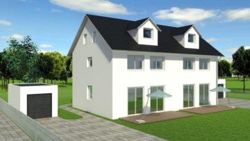 Kurze Fertigstellungszeit! – Neubau: Doppelhaushälfte in Aalen (Haus Nr.1) – provisionsfrei –, 73432 Aalen - Ebnat, Doppelhaushälfte