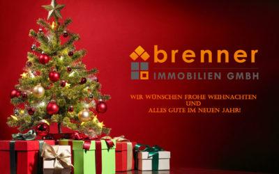 Die brenner Immobilien GmbH wünscht Frohe Weihnachten!